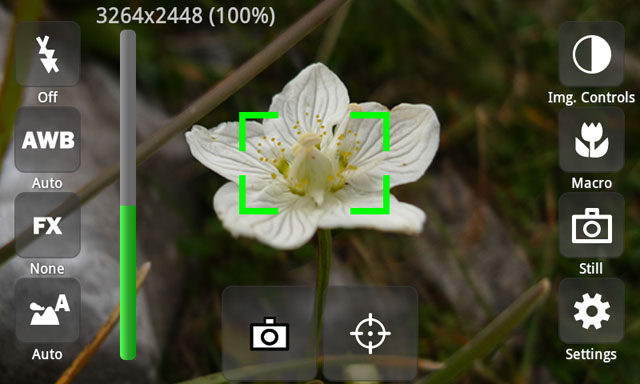 CameraPro app providing fast and powerful access to various settings on your mobile phone photo and video camera